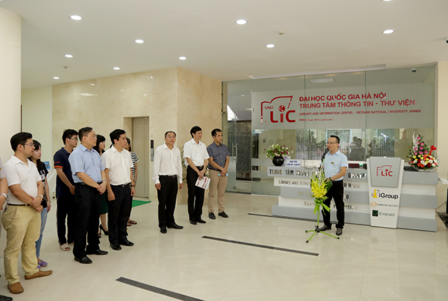 Grand opening automatic Book Drop 24/7 system, Vietnam National University