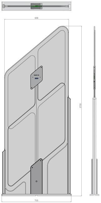 Quartz RFID sistema de detección de seguridad